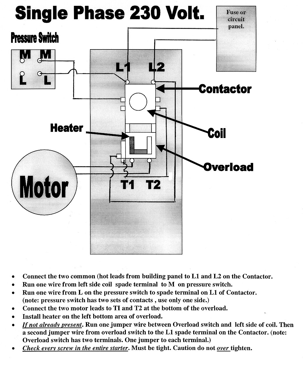 1PhWiring air compressor magnetic starters mastertoolrepair com husky air compressor wiring diagram at edmiracle.co