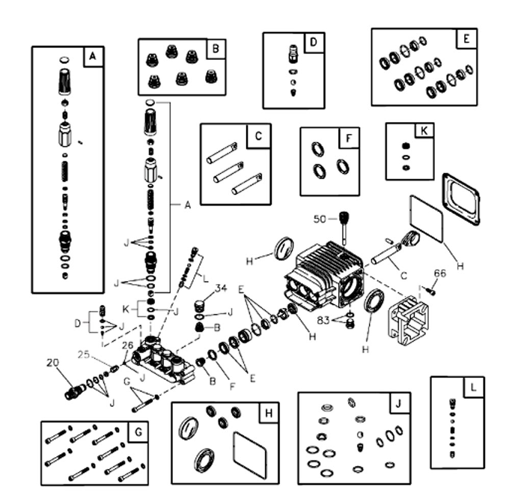 020383-0, 202058 - Pressure Washer Pump Parts schematic