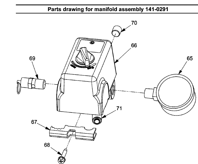 141-0291 - Air Compressor Regulator Parts schematic