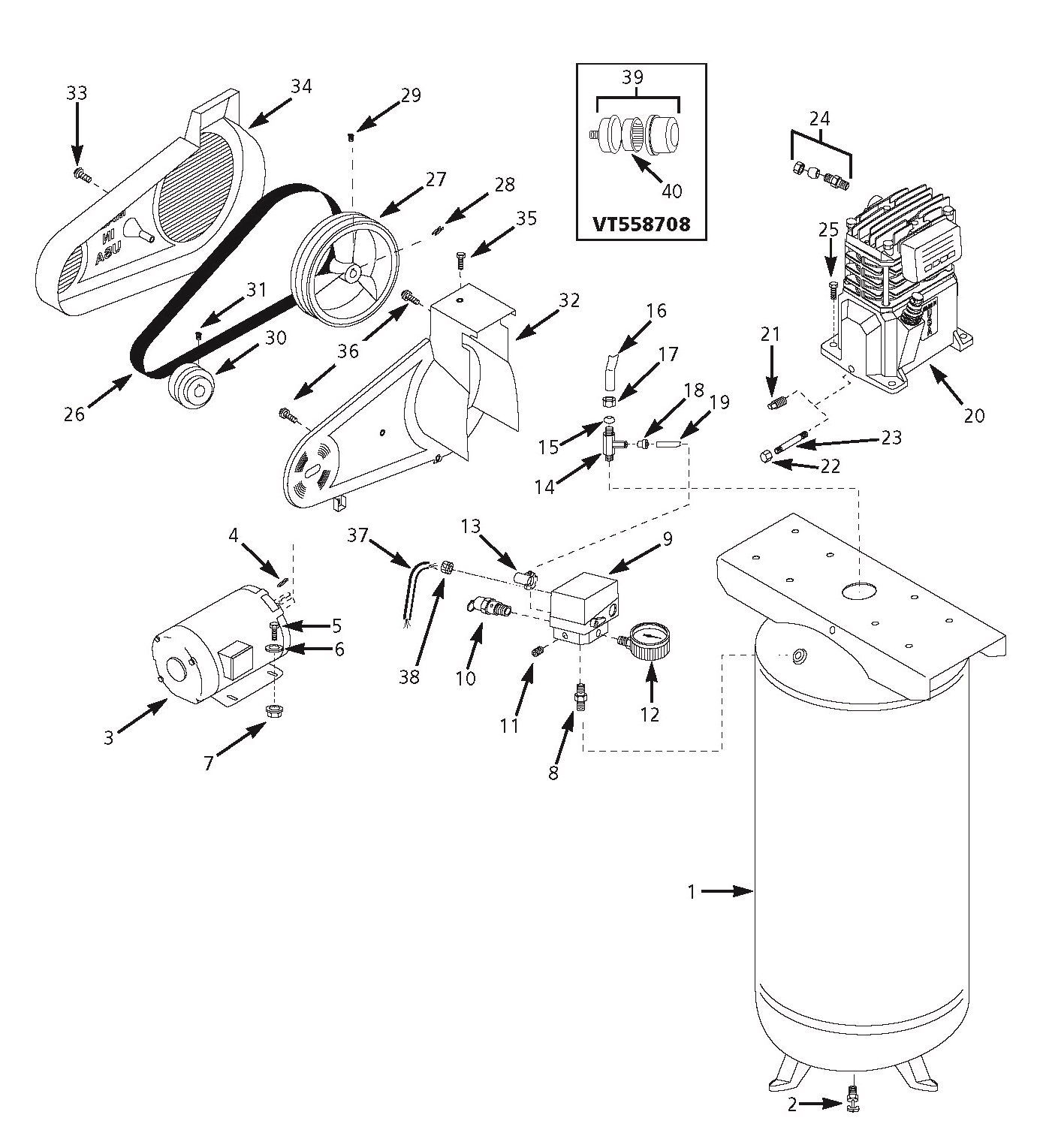For Campbell Hausfeld Vt619501aj Wiring Diagram Opinions About Air Compressor Vt627602 Parts Rh Mastertoolrepair Com List Airless Paint Sprayer