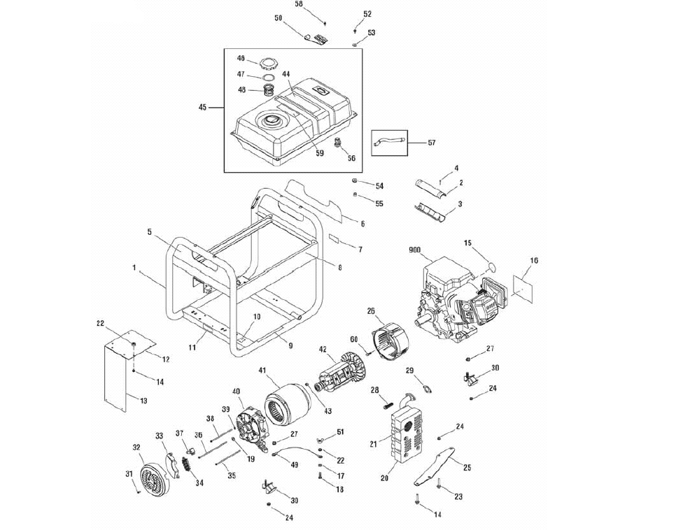 30467mainunit briggs & stratton 30467, 030467 0 portable generator parts husky 5000 watt generator wiring diagram at readyjetset.co