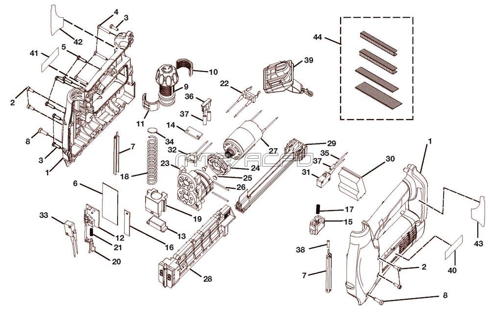 315.115122 - Cordless Nailer/Stapler Parts schematic