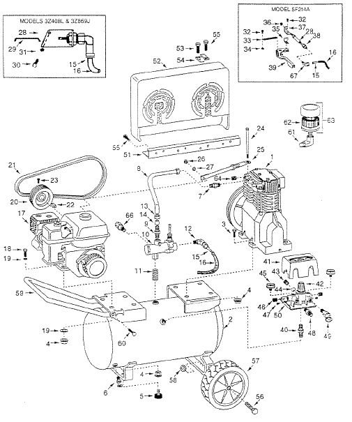 3Z408L - Air Compressor Parts schematic