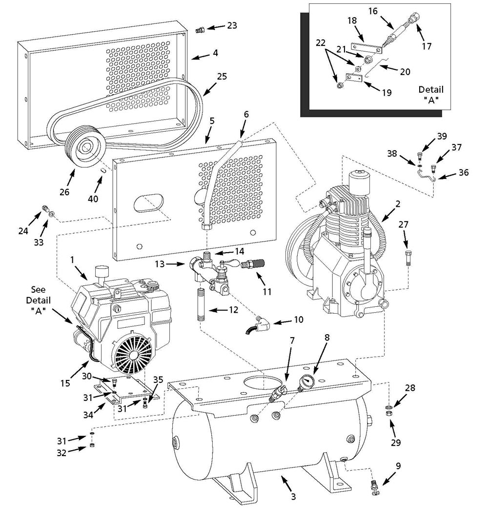 5F564A, 4LW38, 13H30 - Air Compressor Parts schematic