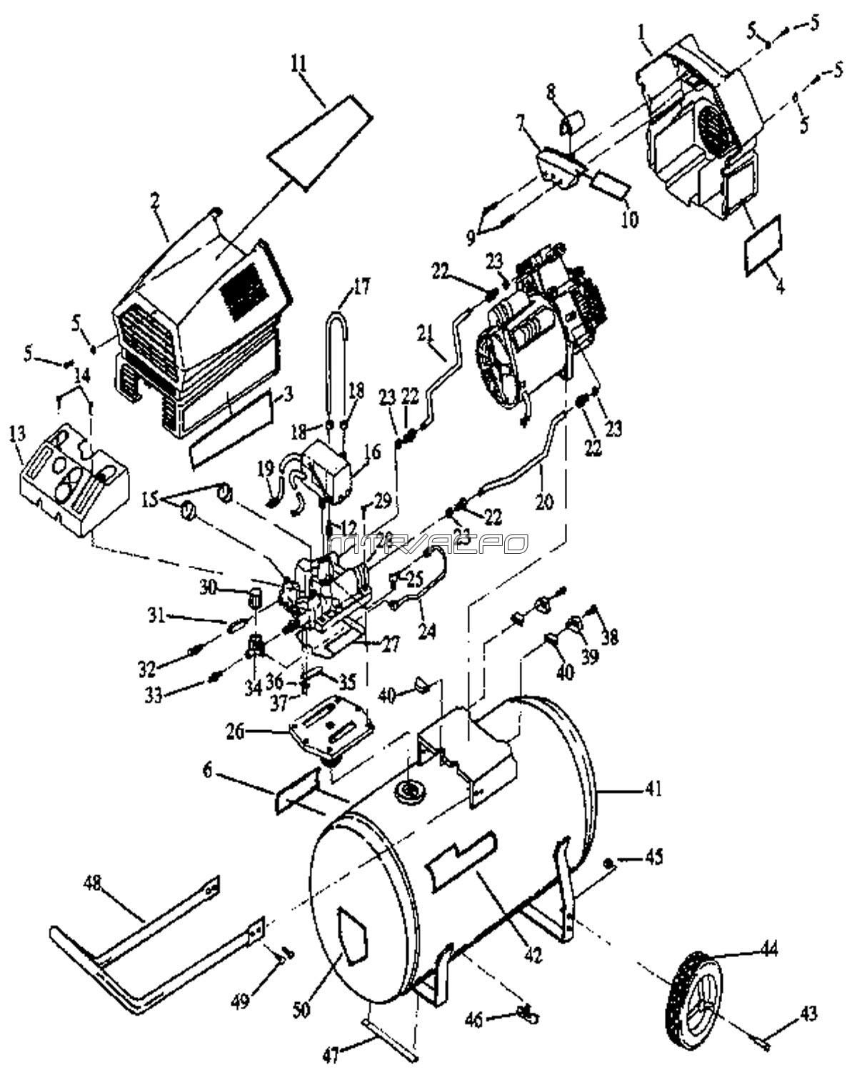 919.152930_craftsman_parts sears craftsman 919 152930 air compressor parts wiring diagram for craftsman air compressor at edmiracle.co