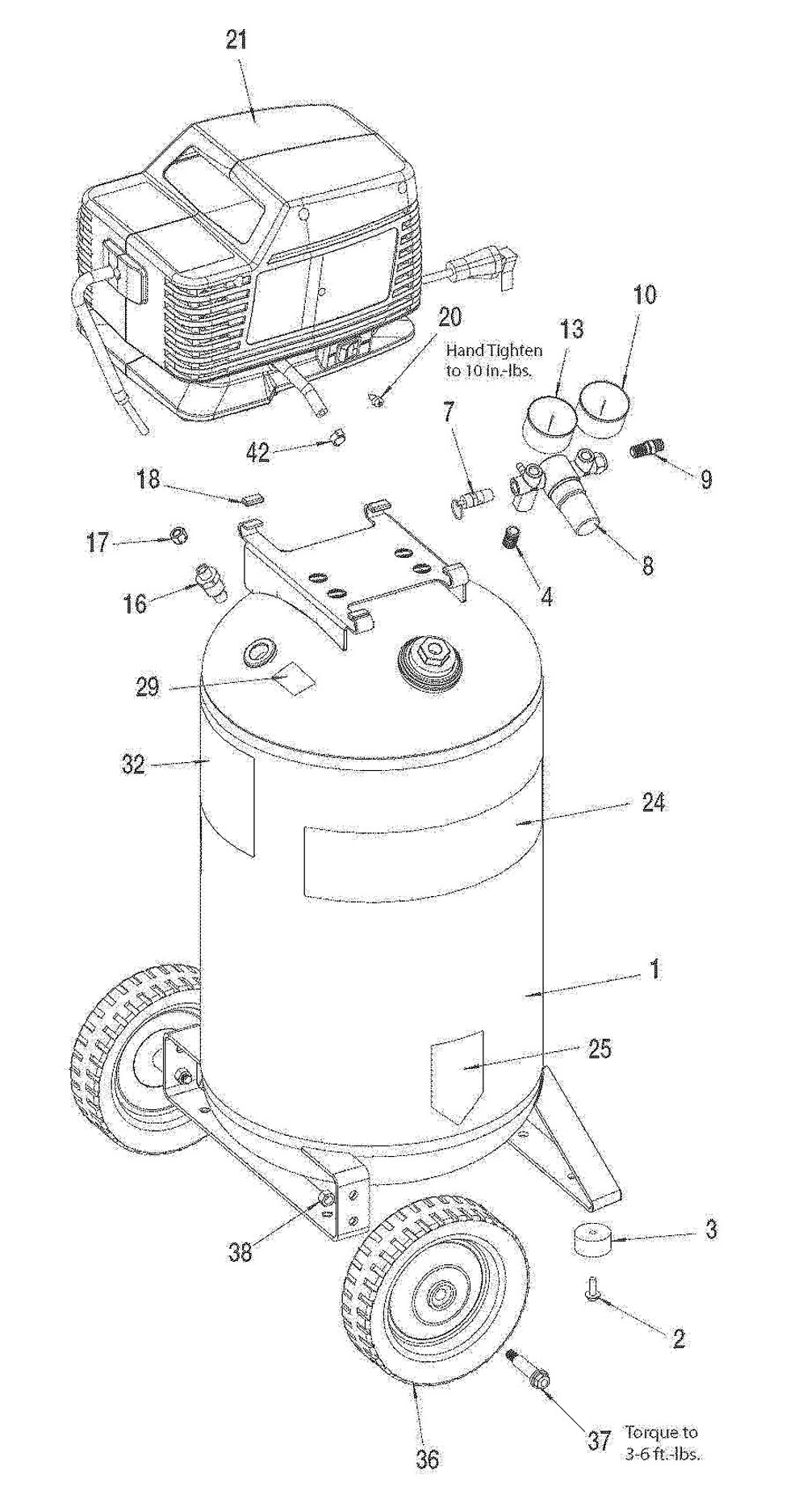 919.166442 - Air Compressor Parts schematic
