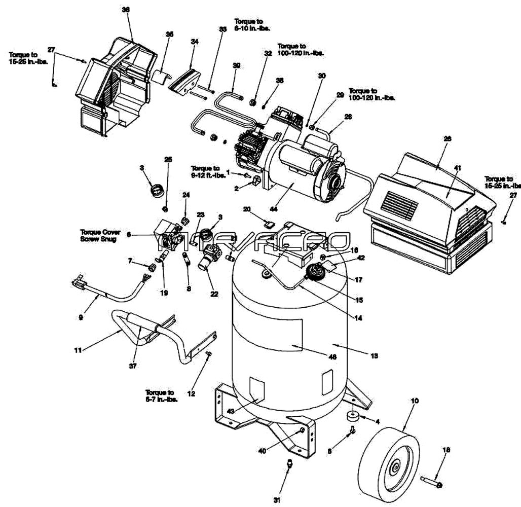 919.167780, 919.167783 - Air Compressor Parts schematic