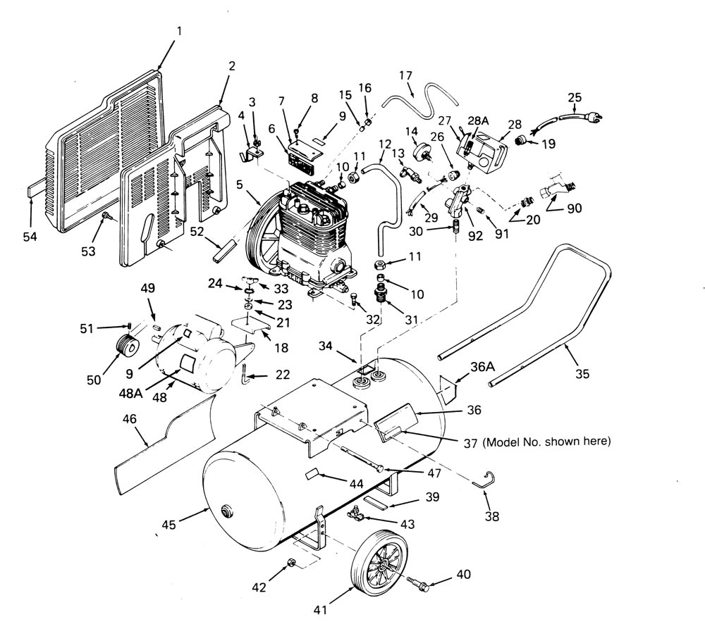 919.176850_parts craftsman 919 176850 parts master tool repair sears 1 hp air compressor wiring diagram at crackthecode.co