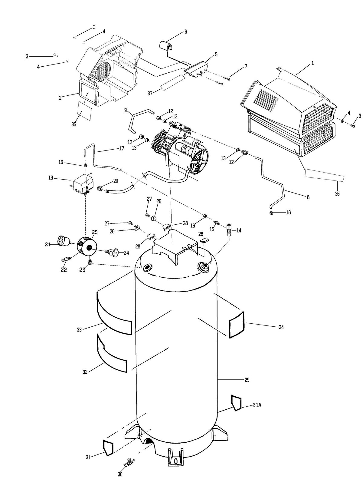 919.727270 - Air Compressor Parts schematic