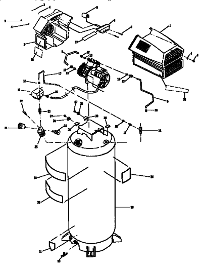 Oilless Air Compressor Wiring Diagram