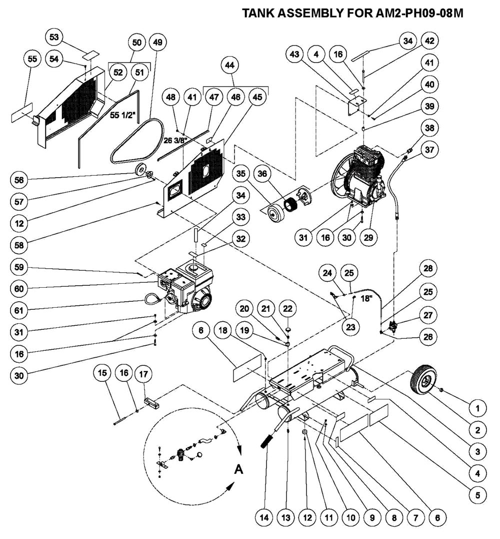 AM2-PH09-08M - Air Compressor Parts schematic