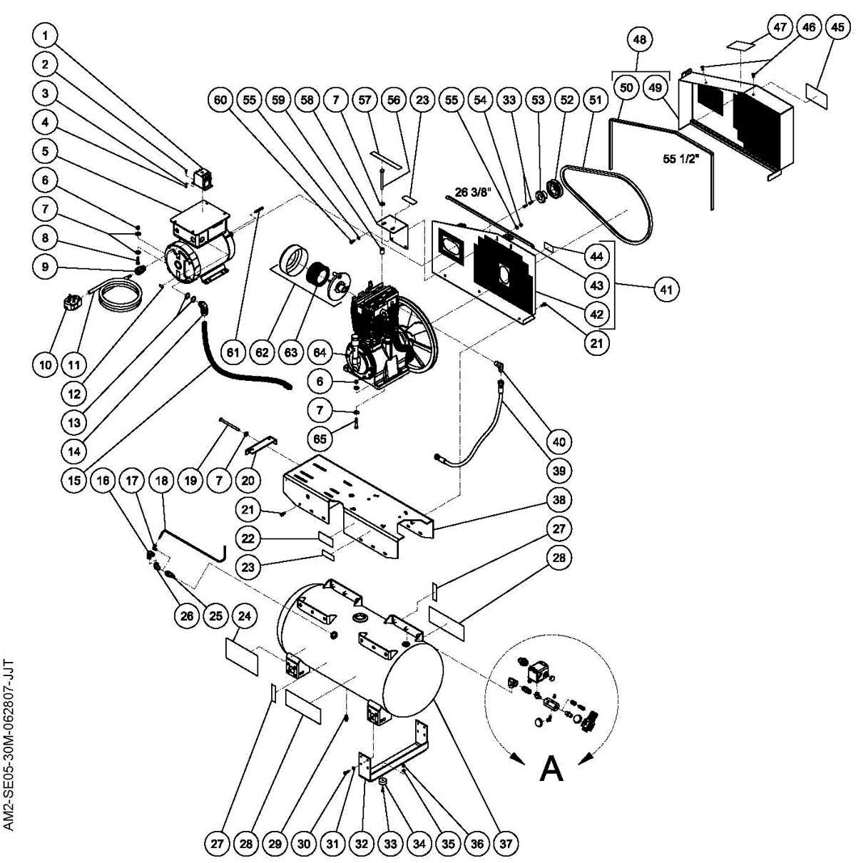 AM2-SE05-30M - Air Compressor Parts schematic