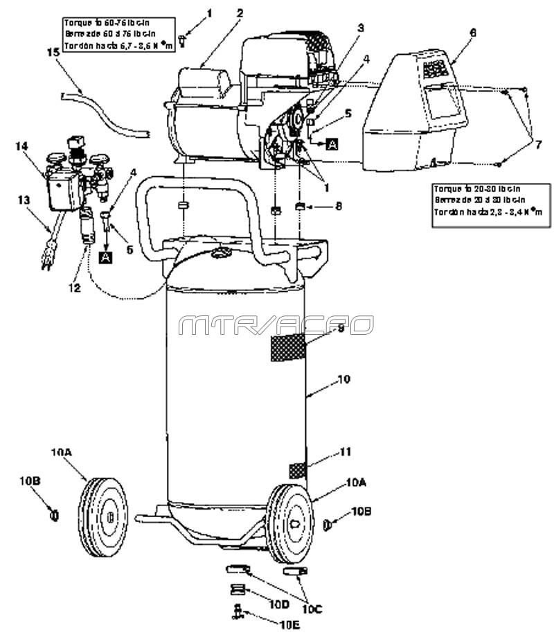 Magna Force Air Compressor Motor Wiring Diagram on