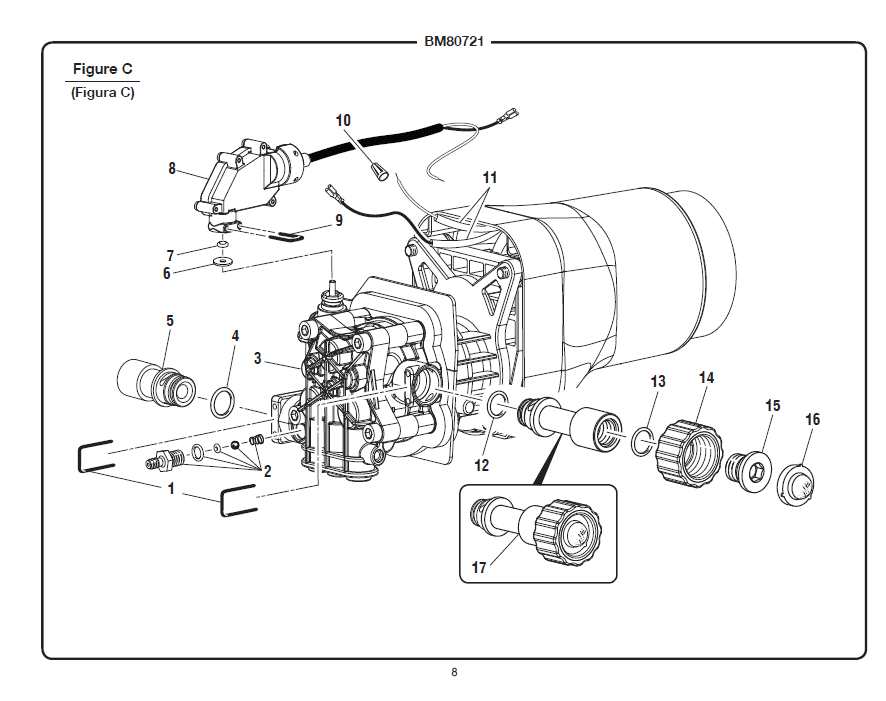 BM80721 Figure C black max bm80721 parts pressure washer wiring diagram at readyjetset.co