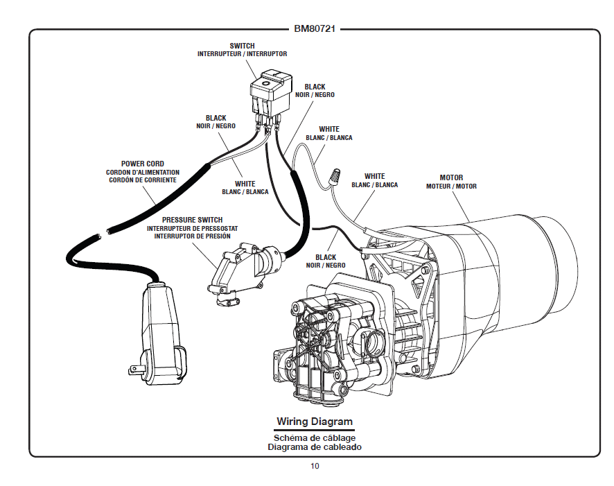 BM80721 Wiring Diagram blackmax bm80721 pressure washer wiring pressure washer wiring diagram at readyjetset.co