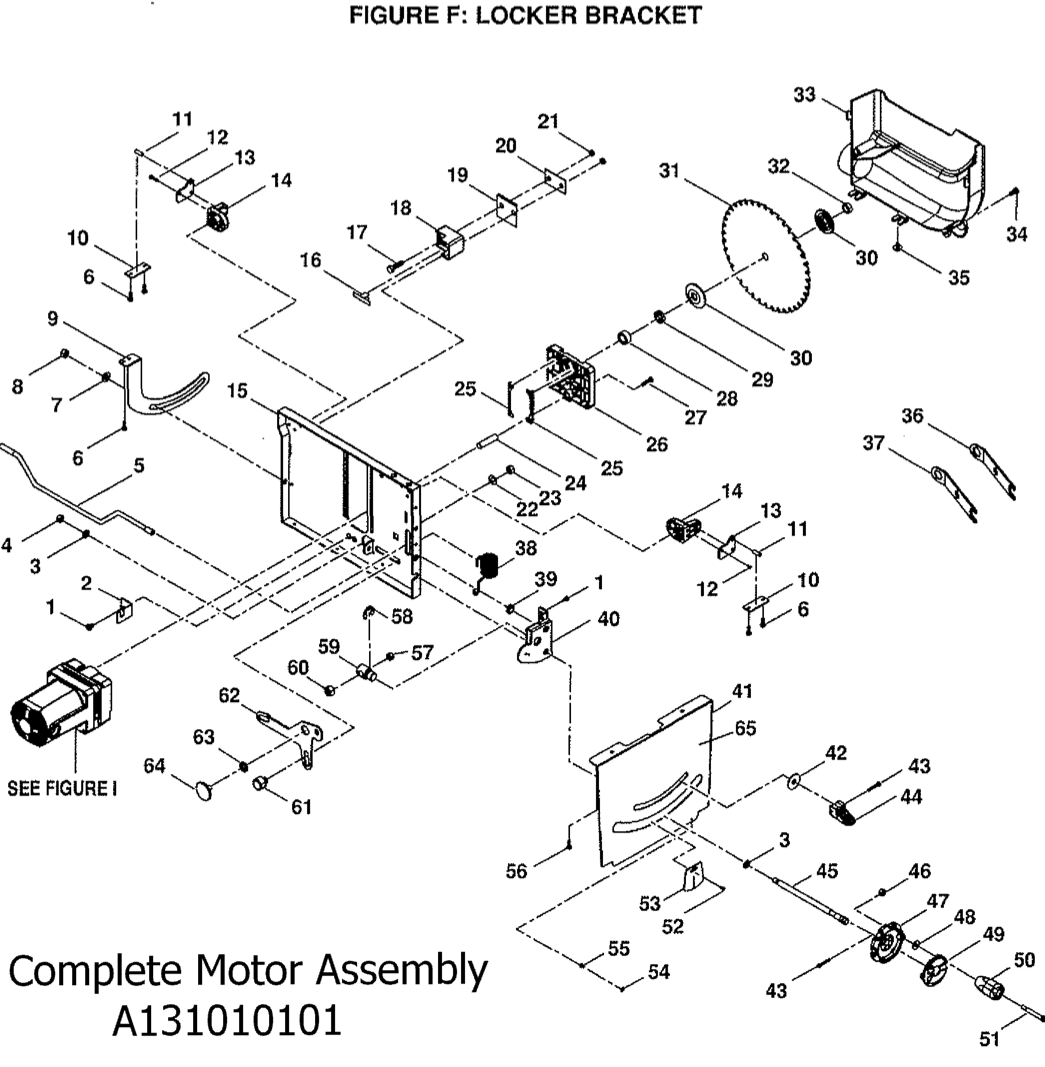 BTS20_figfschematic ryobi bts20 table saw parts Ryobi BT3000 Table Saw at mifinder.co