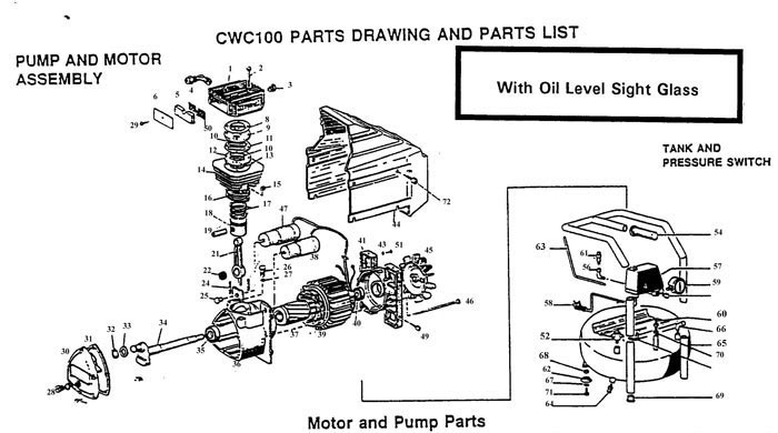 bostitch cwc100 air compressor parts