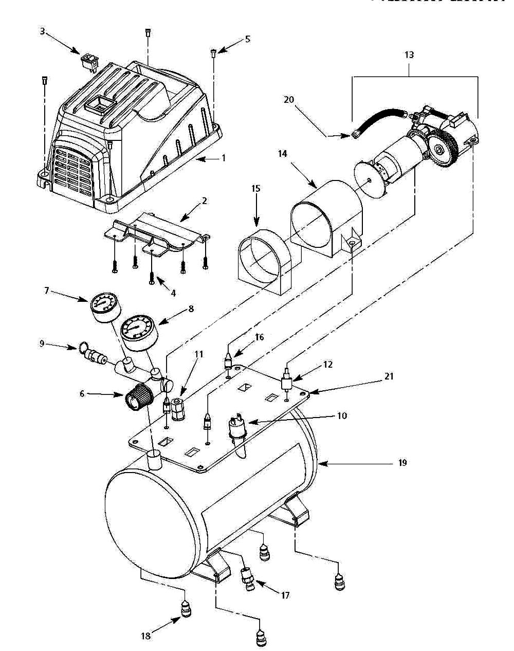 FP209001, FP209401 - Air Compressor Parts schematic