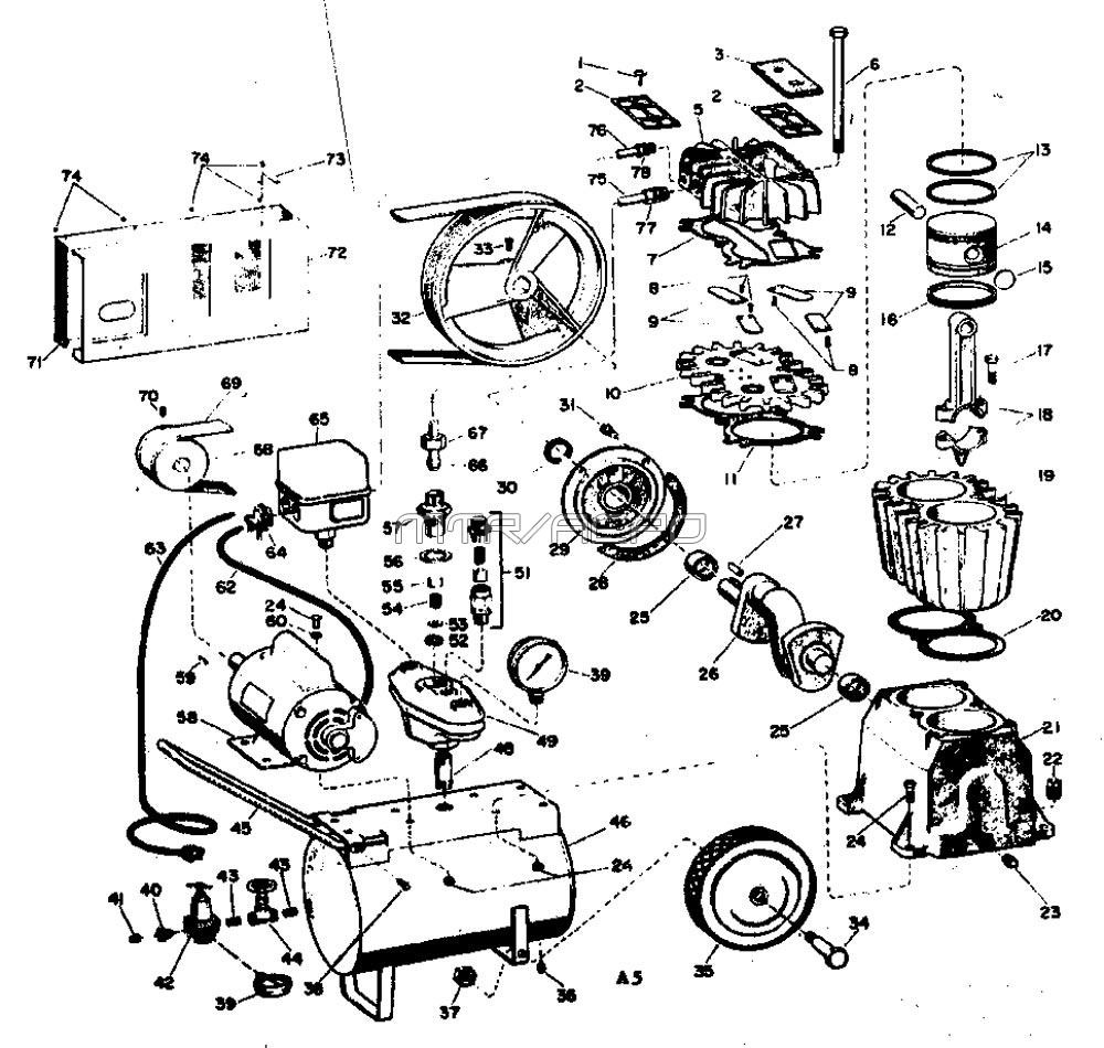 Sears Craftsman 106153680 Air Compressor Parts Kenmore 80 Series Washing Machine Diagram Wiring