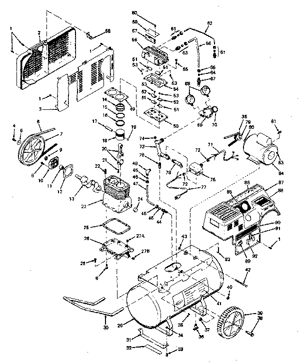 919.156580 - Portable Oil-Bath Electric Air Compressor Parts schematic