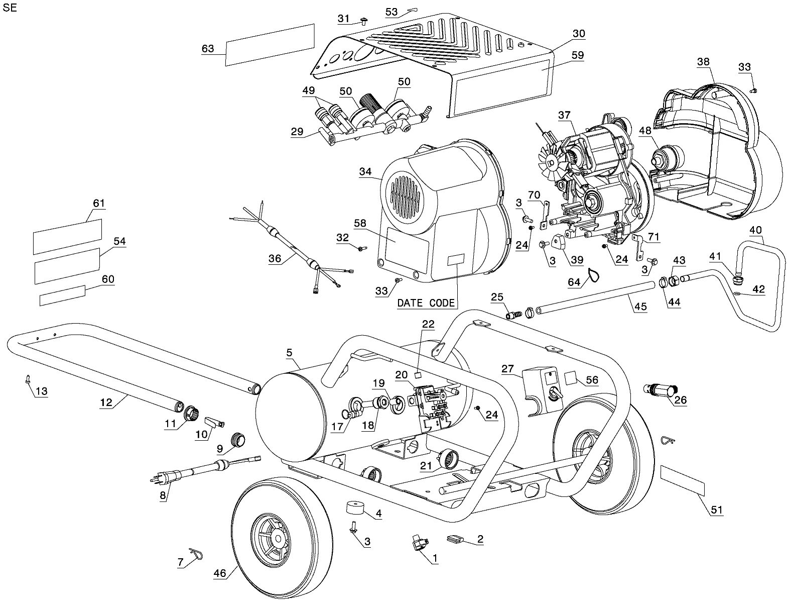 D55146 - Air Compressor schematic