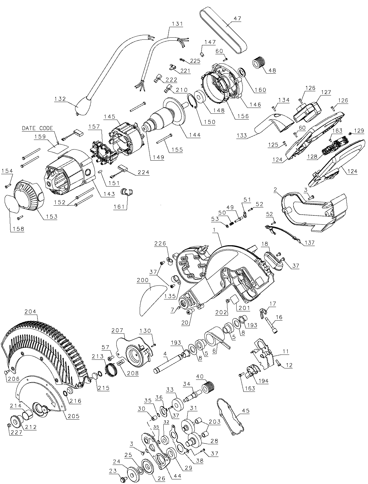 DWS780 a - Miter Saw Parts schematic