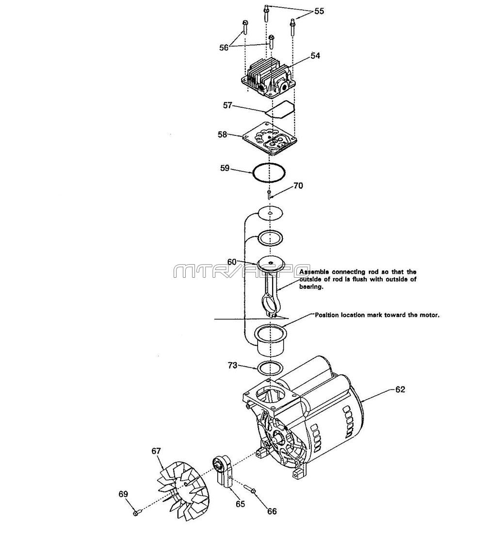 AC-0426 - Air Compressor Pump Parts schematic
