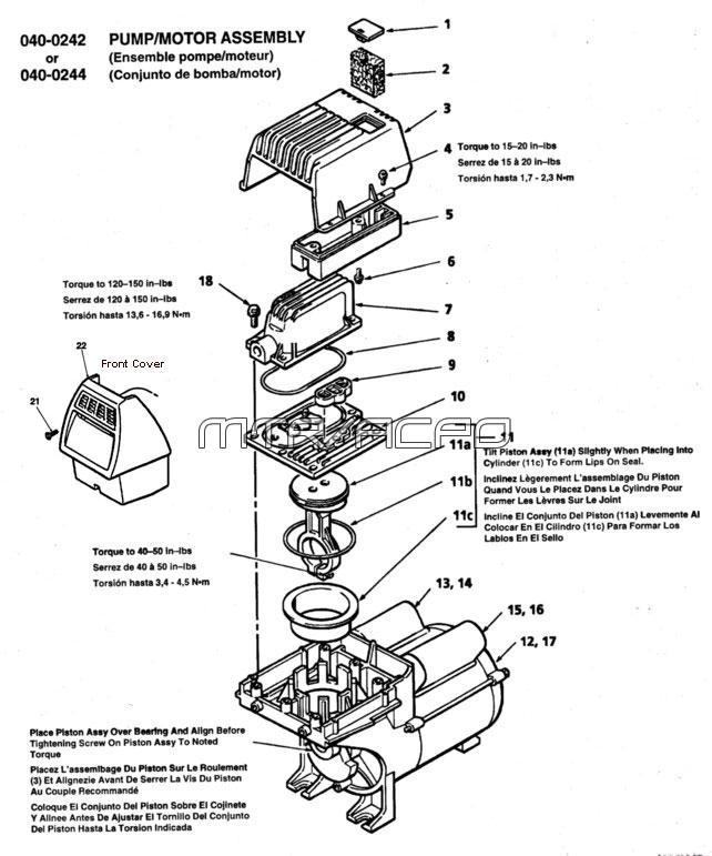 - FL Series Oil Free Air Compressor schematic
