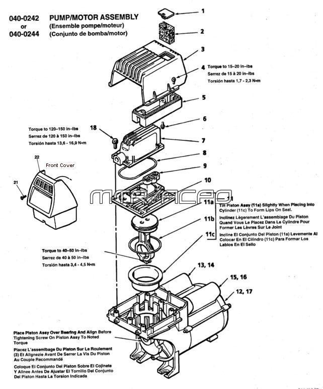 FL-040-0242 - Air Compressor Pump Parts schematic