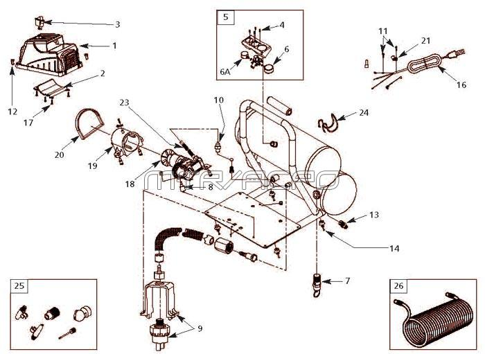 Campbell Hausfeld FP2095 Air Compressor Parts