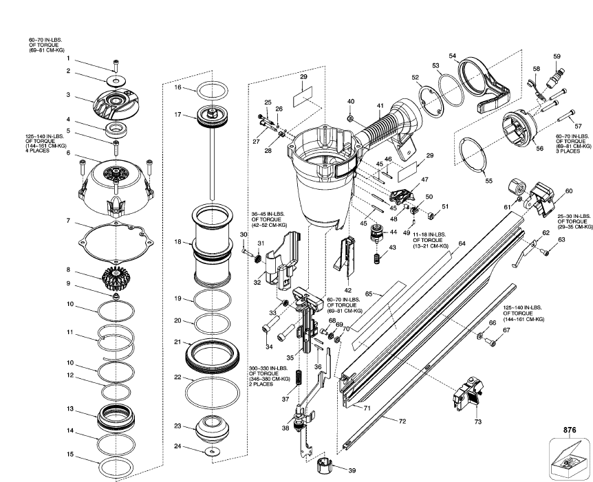 fr350b pneumatic framing nailer parts schematic click to enlarge close slide to zoom image