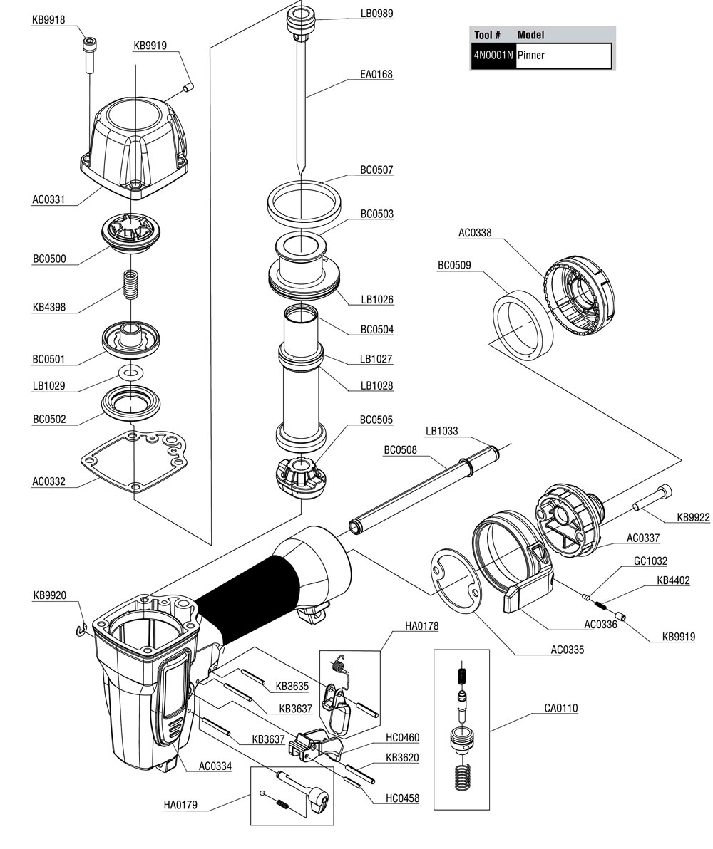 FinishPro 11 - SENCO Parts schematic