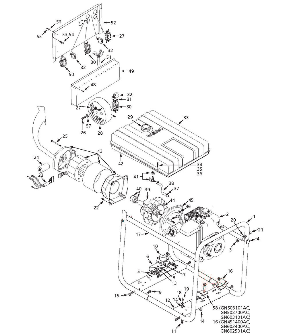GN503101AC - Generator Parts schematic