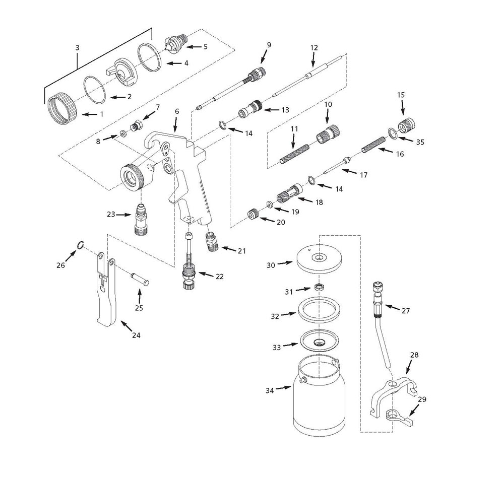 husky parts siphon feed spray gun hds750 graco paint sprayer schematics hds750 paint sprayer parts