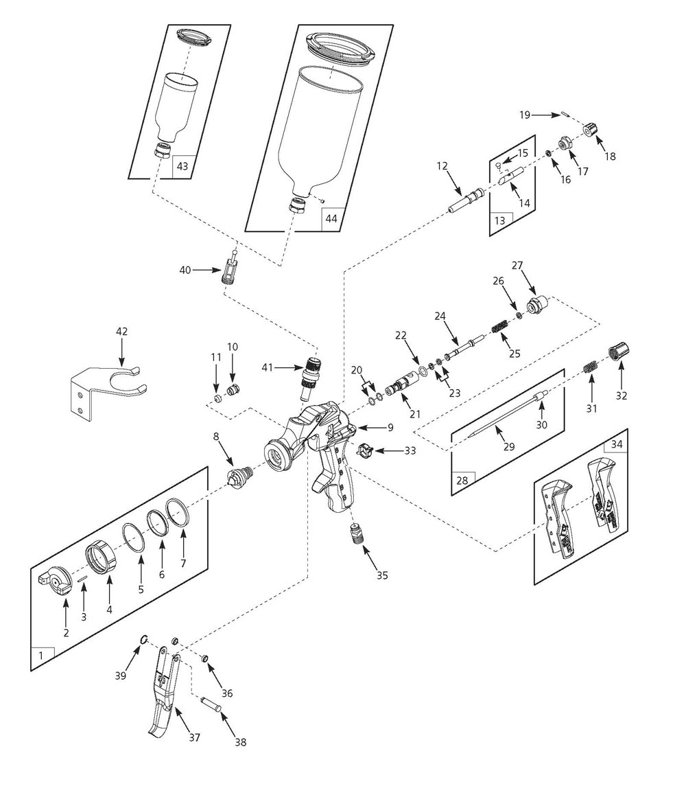 HDS890 - Paint Sprayer Parts schematic
