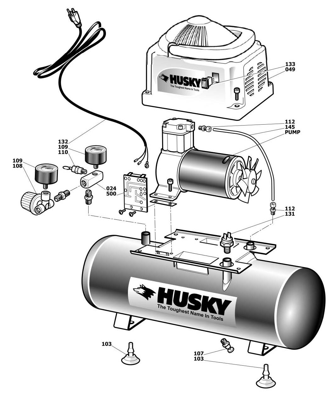 Husky 60 Gallon Air Compressor Wiring Solutions 220 110 Diagram Pressure Switch