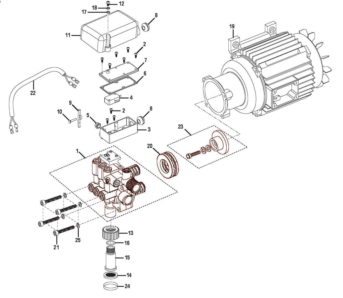 HL80220, 308653024 - Pressure Washer Parts schematic