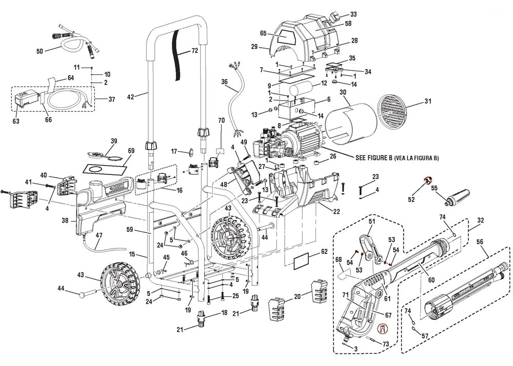 HU80220 - Pressure Washer Parts schematic
