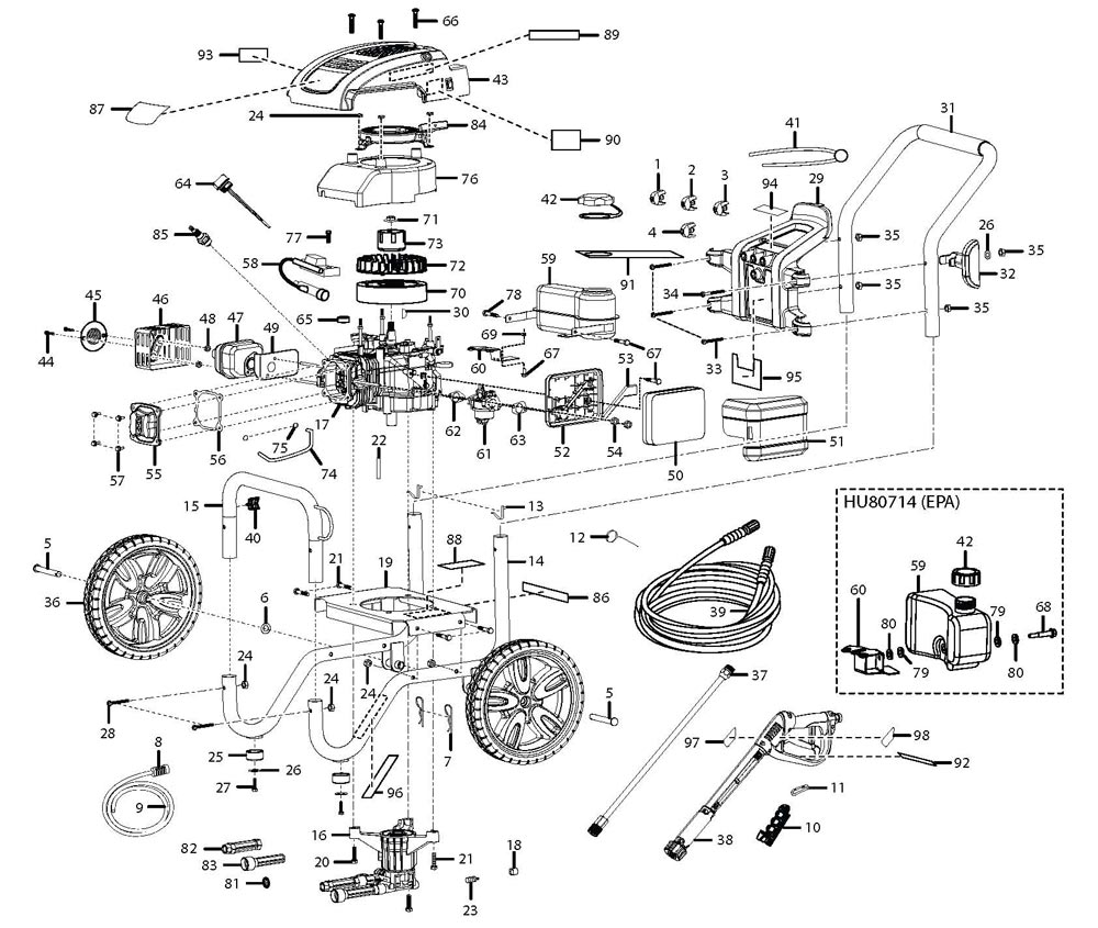 pressure washer parts diagram   29 wiring diagram images