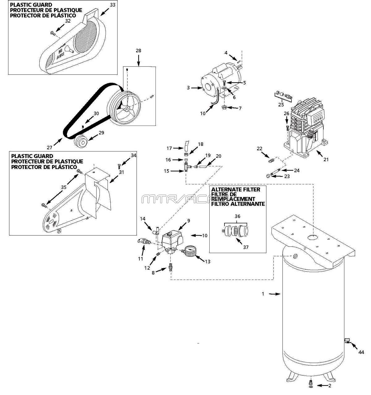 husky vt631403aj air compressor parts rh mastertoolrepair com Husky Riding Mower Deck Diagram Husky Riding Mower Deck Diagram