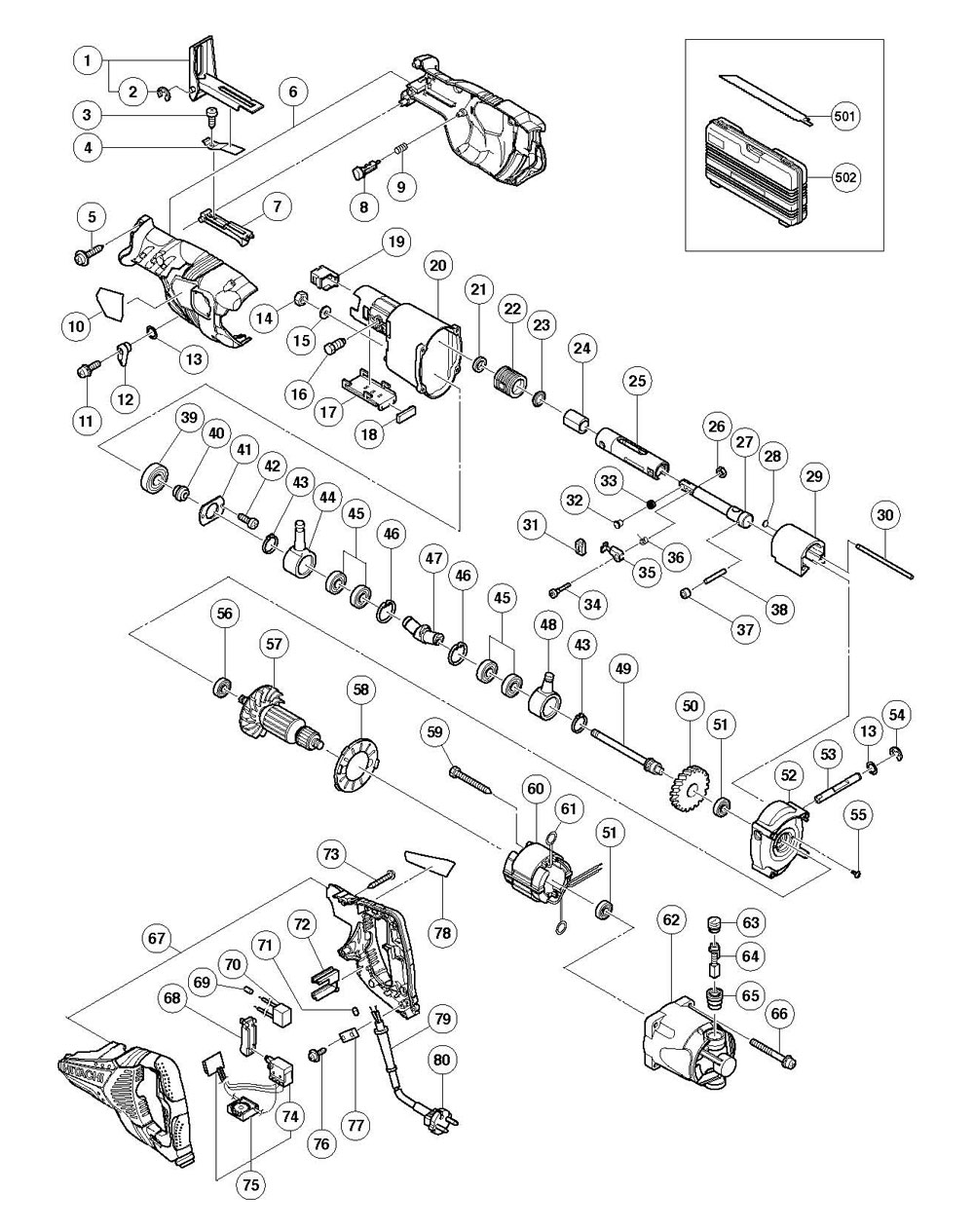 CR13VBY - Reciprocating Saw Parts schematic