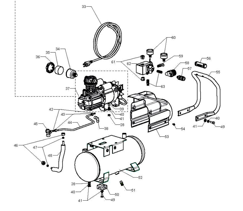 wiring diagram for kobalt air compressor wiring discover your husky air pressor parts h1301f