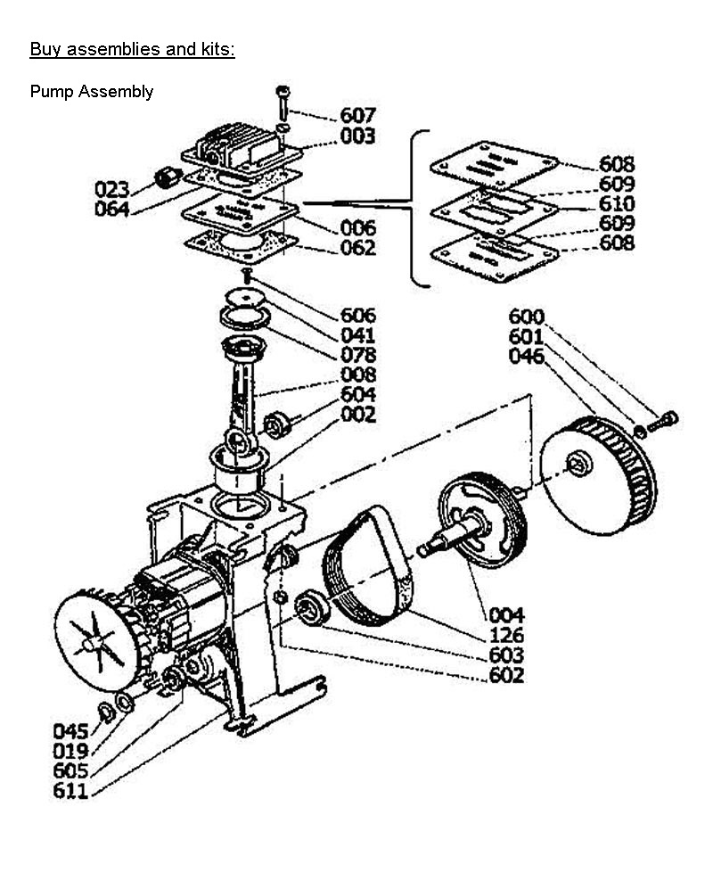 H1504ST, A700062 - Air Compressor Pump Parts schematic