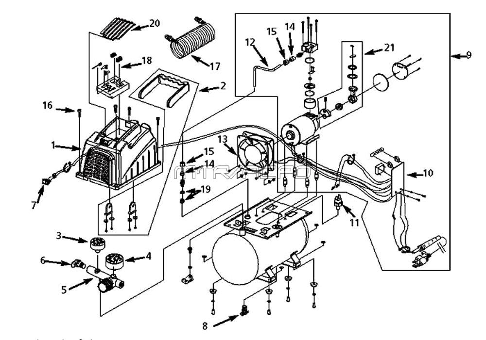 husky air compressor parts diagram