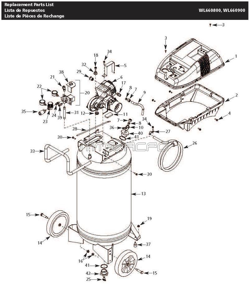 craftsman air compressor parts manual sanborn parts