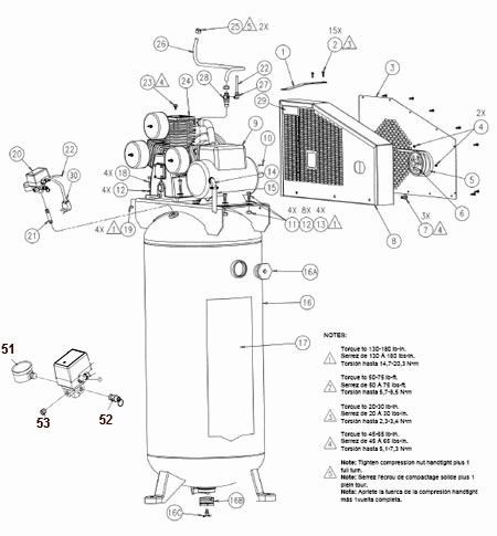 ILA8046065, ILA4546065, SLA8046065 - Air Compressor Parts schematic
