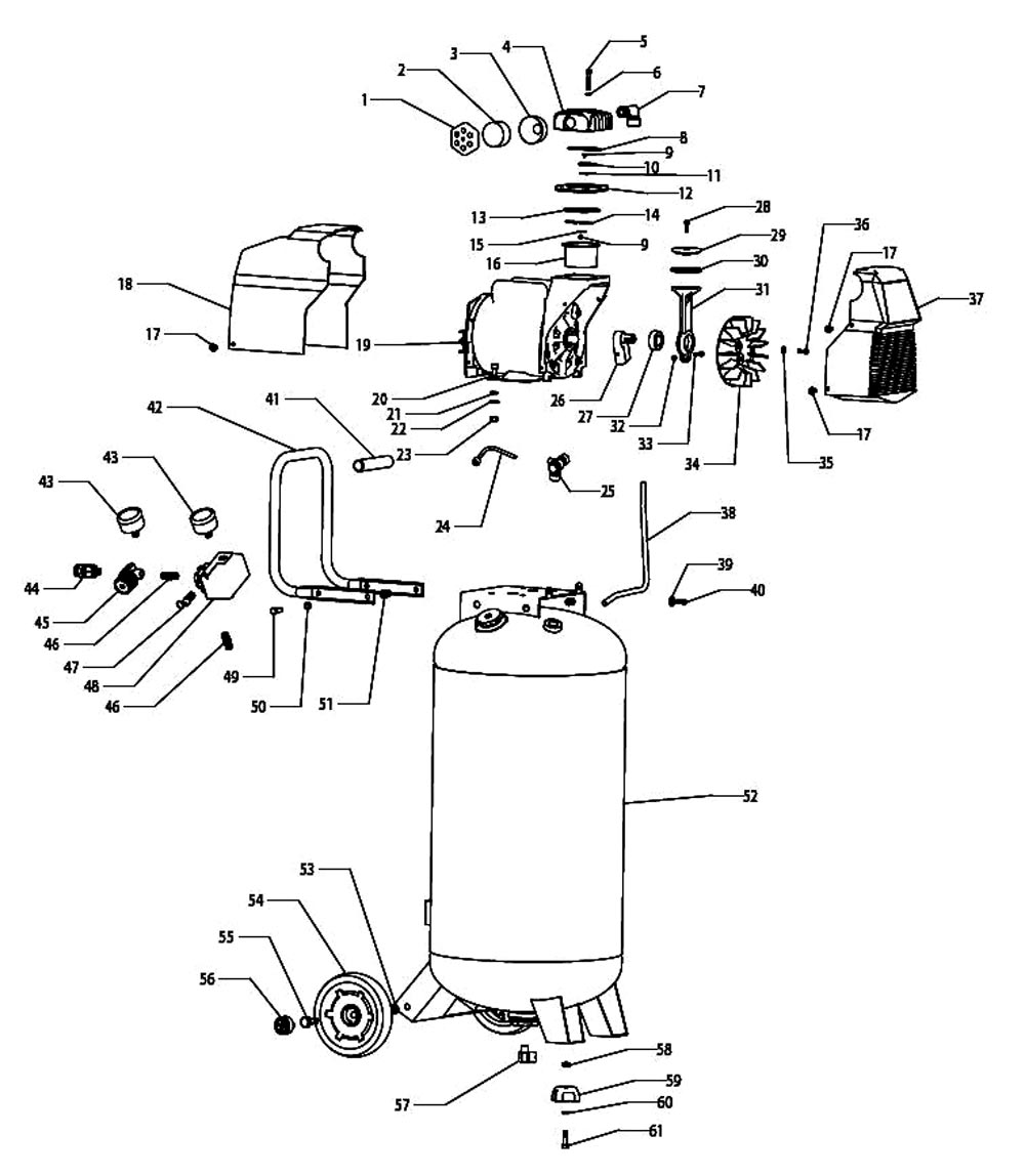 F226VWLVP, 37296 - Air Compressor Parts schematic