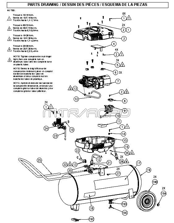 VPK1381509, 215902 - Air Compressor Parts schematic