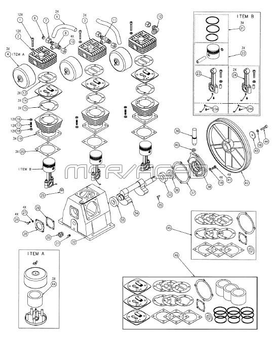 ILA8046065 - Air Compressor Pump Parts schematic