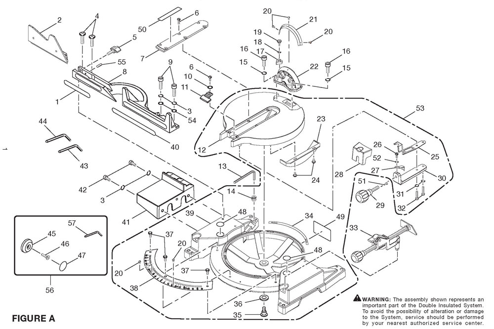 Miter Saw Base Assy Parts